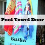 Re-purposed Door for Pool Towels