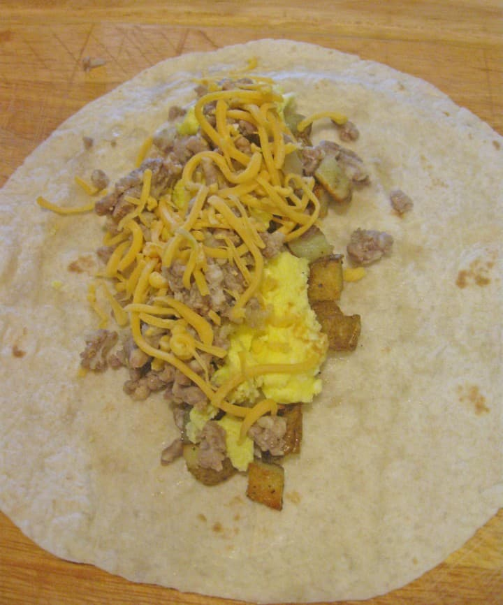 breakfast burrito freezer food