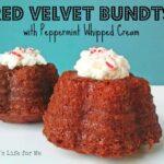 Red Velvet Bundts with Peppermint Filling