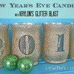 New Year's Eve Glitter Candles
