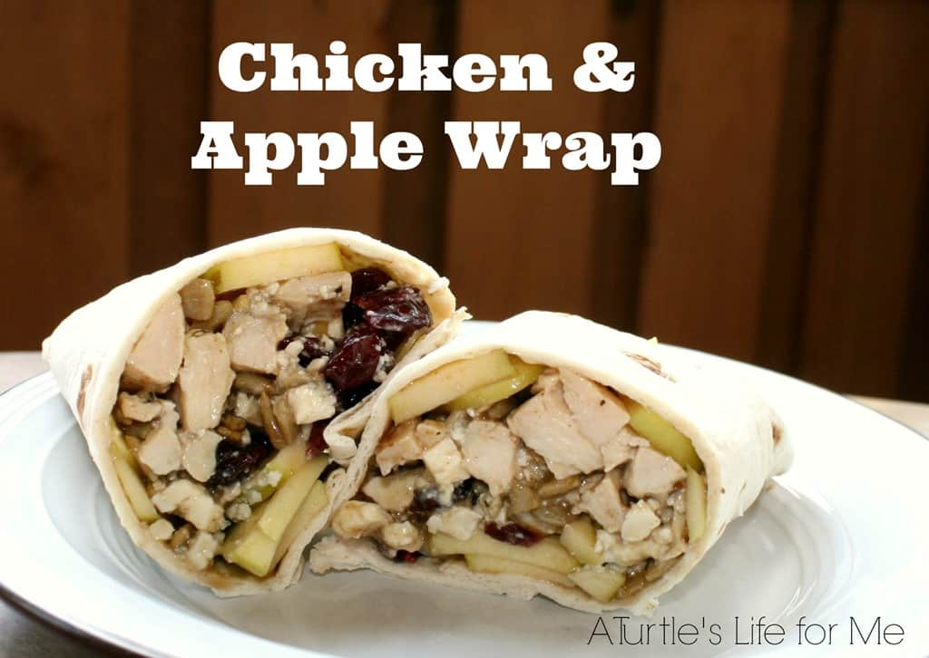 Chicken & Apple Wrap - A Turtle's Life for Me