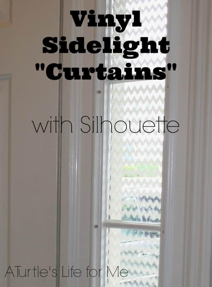 after front door vinyl curtains sidelight