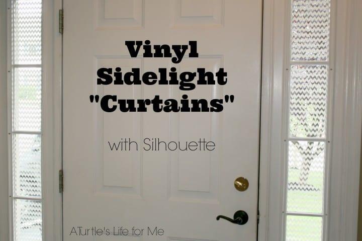 after front door vinyl sidelight curtains