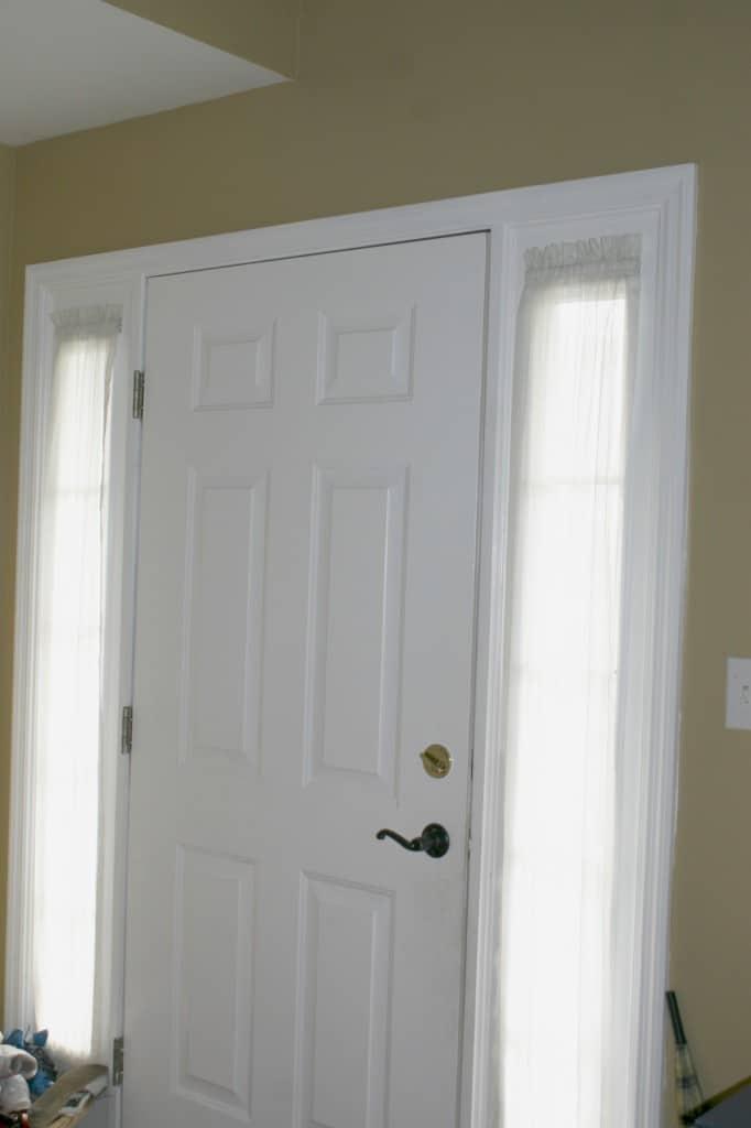 before front door sidelights