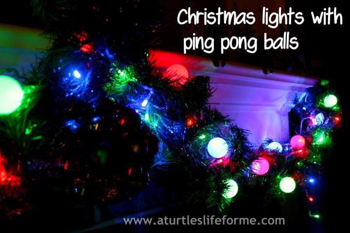 Diy christmas lights and glitter stars a turtle 39 s life - Ping pong christmas lights ...