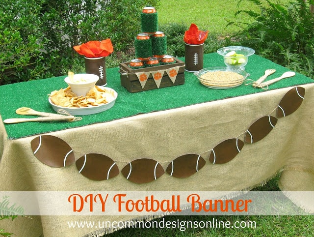 DIY Football Banner Craft