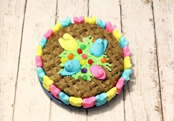 Peepster Basket Cake