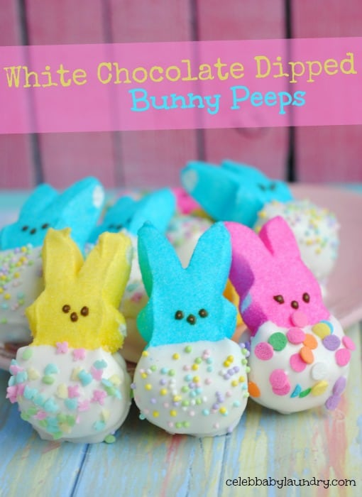 White Choco Covered Bunny Peeps