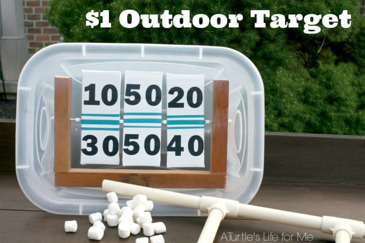 marshmallow shooter outdoor targer