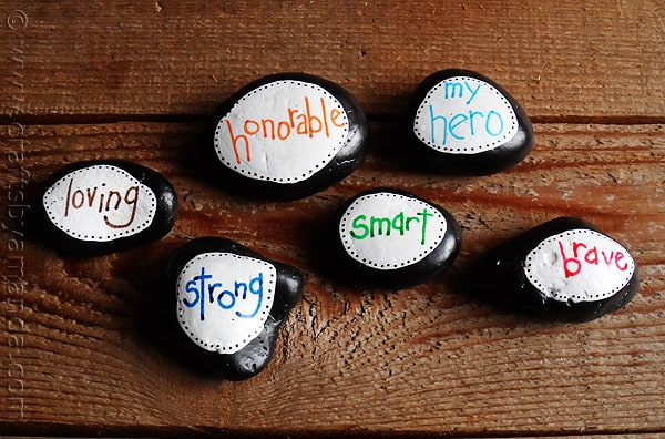 Father's Day Stones Paperweights