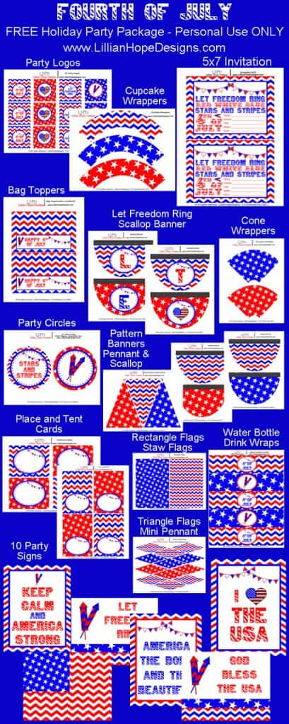 Free Party Package Printables