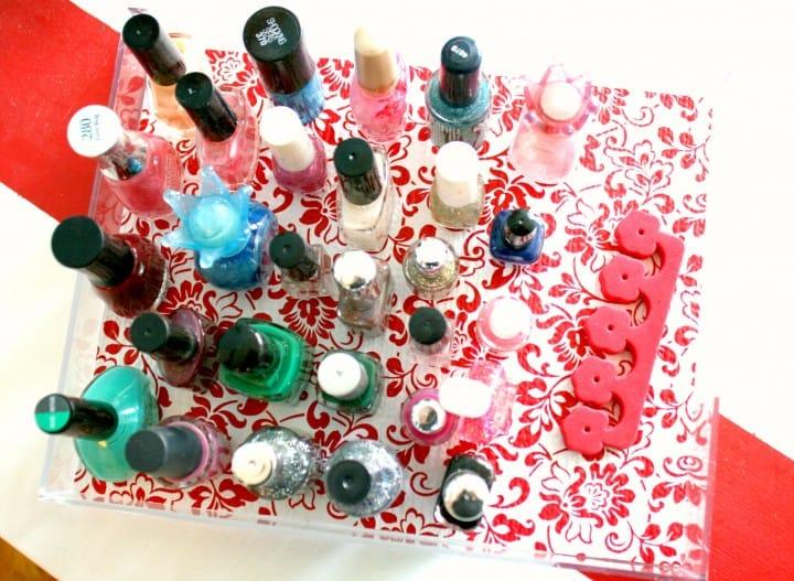 duck tape nail polish tray