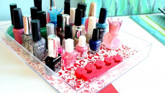 duck tape shelf liner nail polish