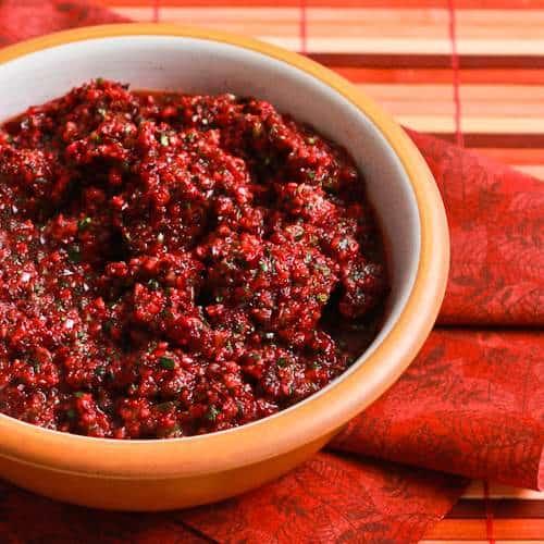 Low Sugar Fresh Cranberry Salsa