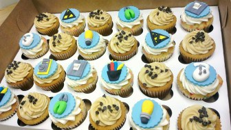 electrician electric fondant toppers birthday cupcakes