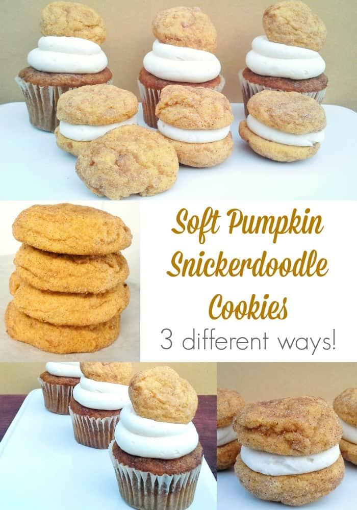 pumpkin snickerdoodle cookies soft recipe