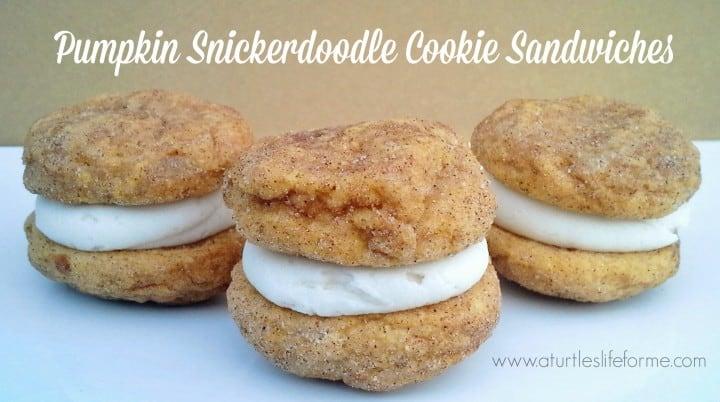 pumpkin snickerdoodle whoopie pies cookie sandwiches recipe