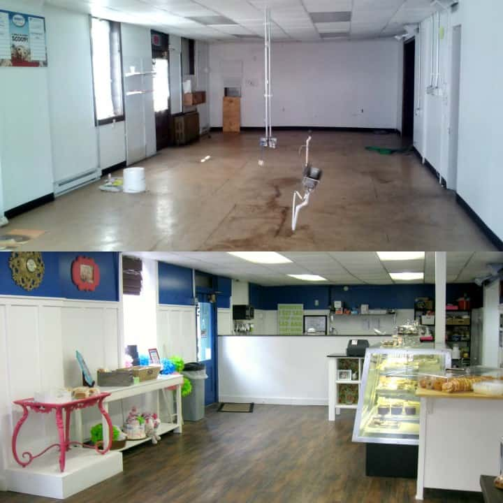 before after inside bakery