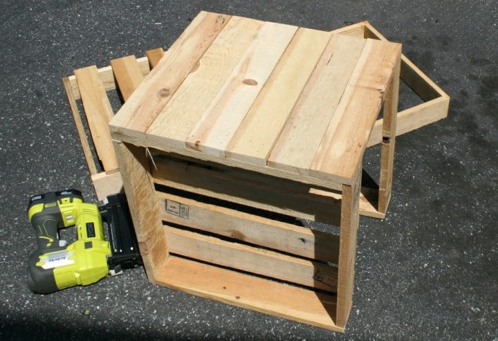 flower boxes pallets sideview diy build