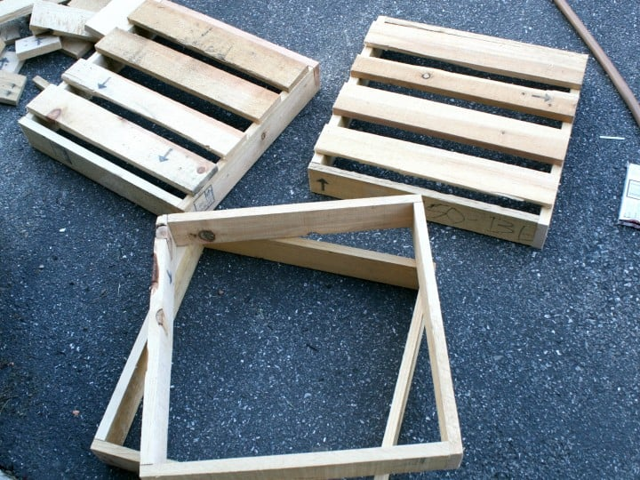 flower boxes pallets tops