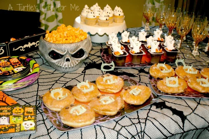 halloween birthday party dessert table wm