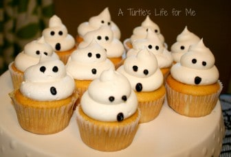 halloween birthday party ghost cupcakes wm