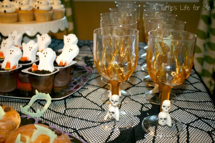 halloween birthday party skeleton glasses wm