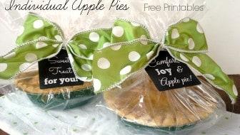 individual apple pies free printable