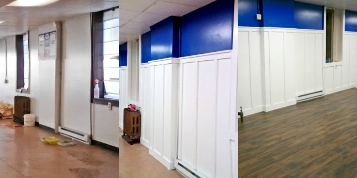 inside bakery before after walls