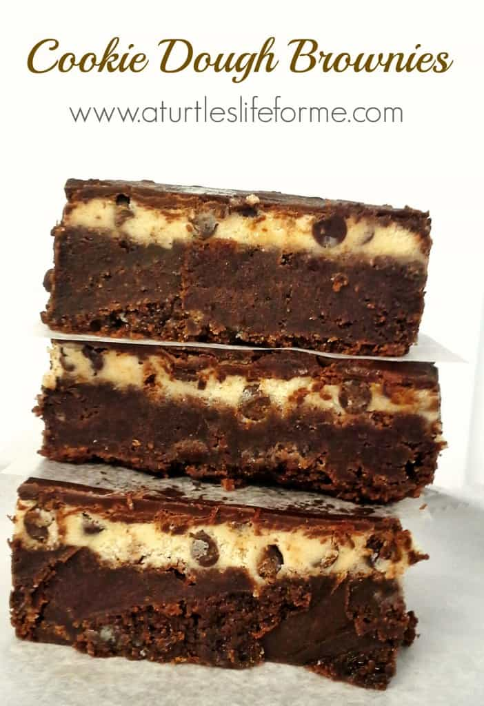 Cookie dough brownies rich and fudgy