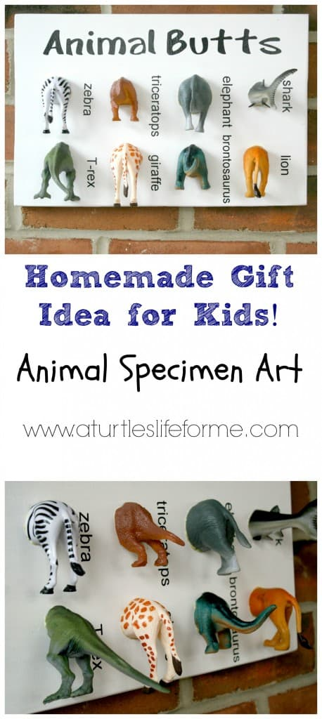 animal specimen art diy homemade gift boys kids christmas