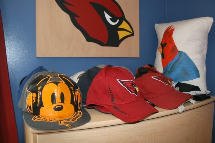 boys dresser sports decorating