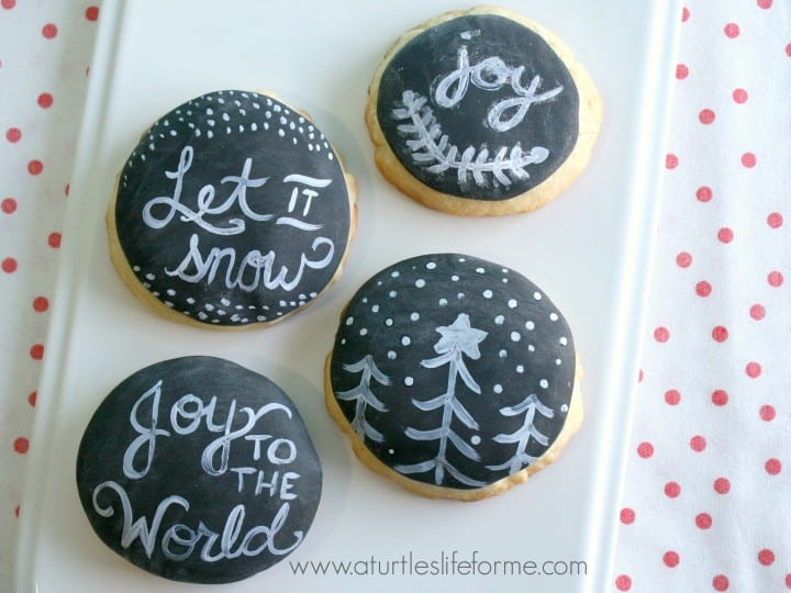 chalkboard fondant wilton cookies holiday