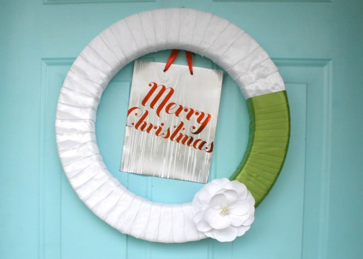 christmas holiday wreath styrofoam