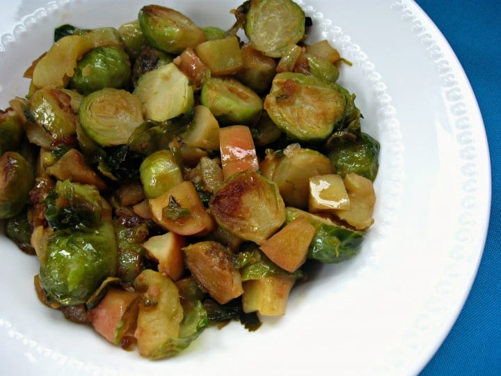 Sauteed Brussel Sprouts with Apples - A Turtle's Life for Me