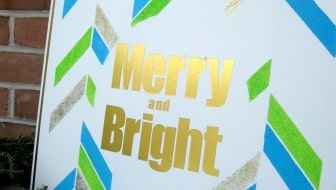 merry bright christmas wood wall art sign