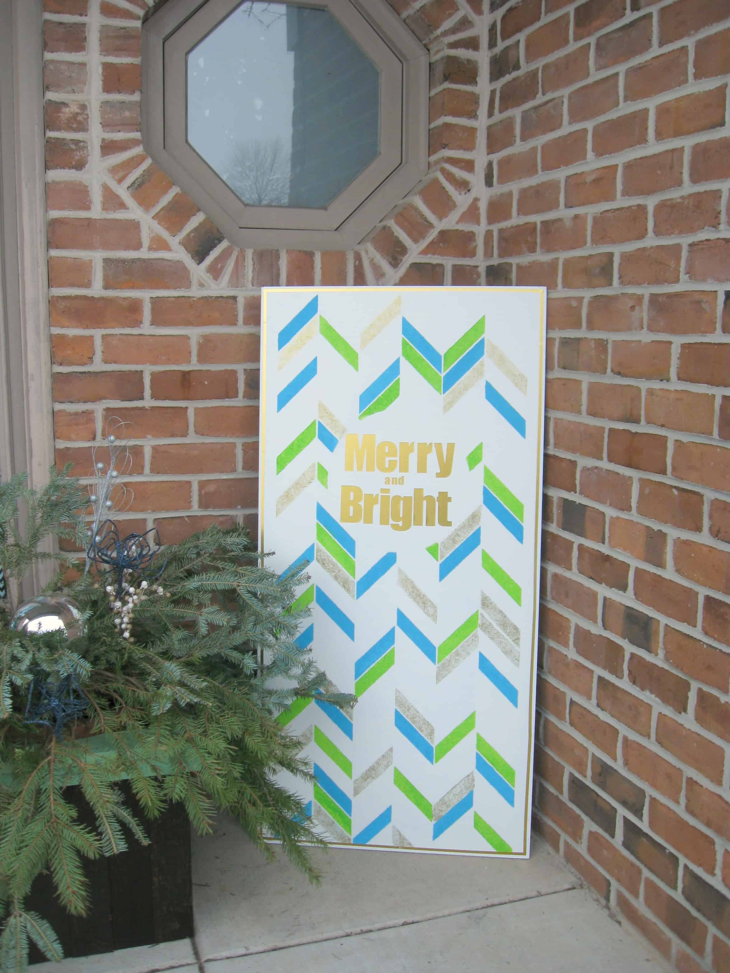 Stenciled christmas wood sign a turtle s life for me