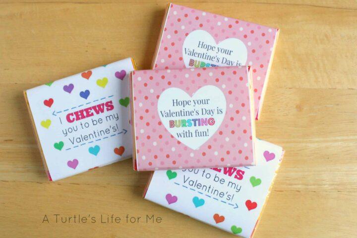 juicy fruit starburst gum with free printables