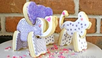 3D cutout animal sugar cookies