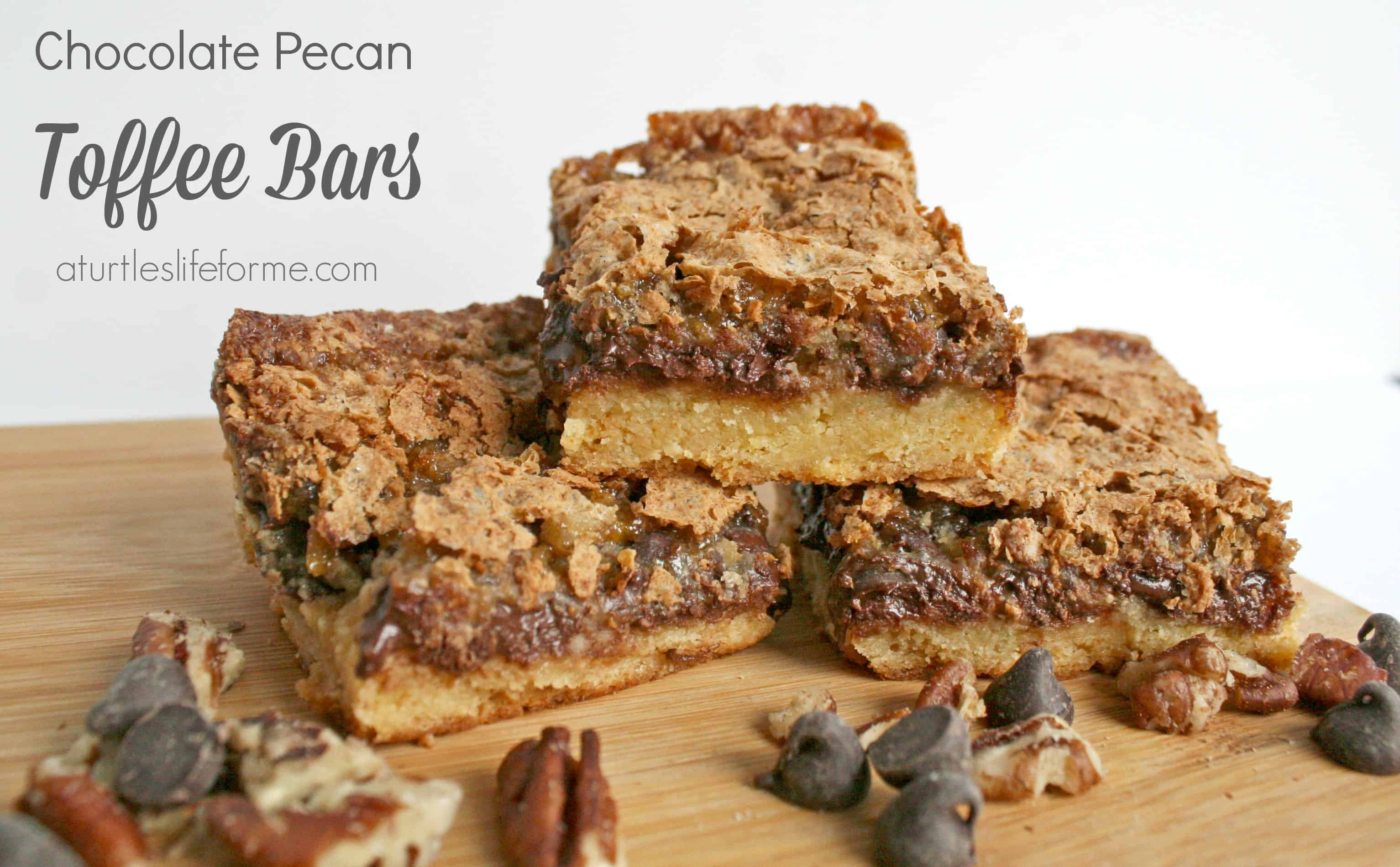 Chocolate Pecan Toffee Bars A Turtle S Life For Me