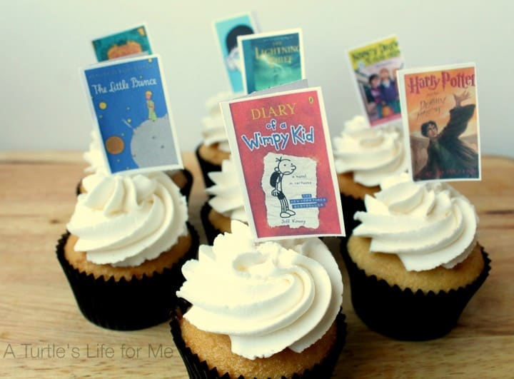 book cupcake toppers- A Turtle's Life for Me 1