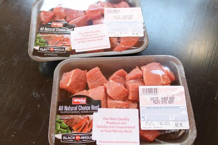 freezer meals-beef cubes