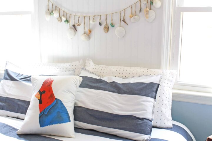 master bedroom nautical makeover with red
