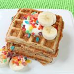 Fruity Pebbles Banana Waffles Recipe
