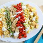 Grilled Chicken Cobb Salad with Marinated Veggies