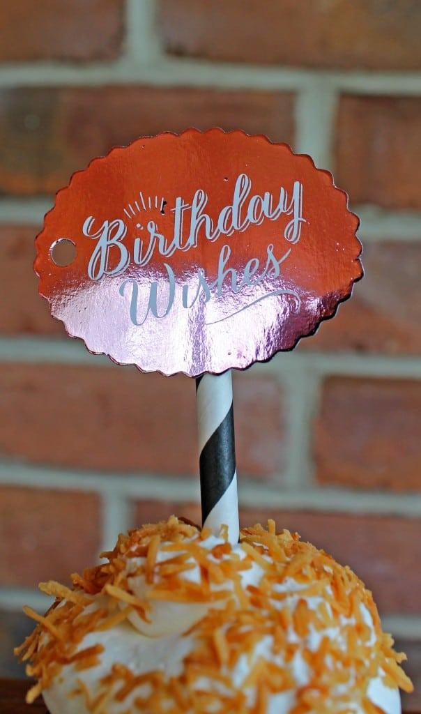 minc gold foil cupcake topper