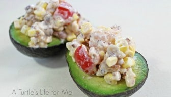 shrimp bacon and corn salad recipe- A Turtle's Life for Me
