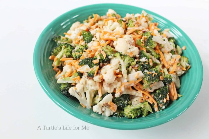 Broccoli Cauliflower Salad - A Turtle's Life for Me