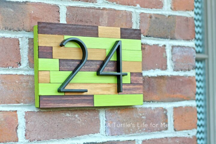 House number plaque a turtle 39 s life for me for Front door number plaques