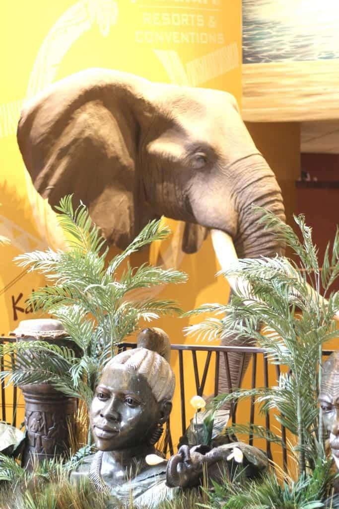Kalahari lobby elephant